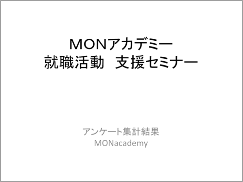 [ 表紙 ] MONアカデミー 就職活動 支援 セミナー.png